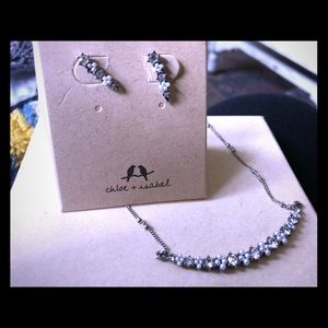 🎄 Crescent Necklace & Stud Earring Set 🎁